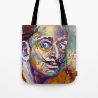 salvador dali Tote Bags featuring salvador dali by yossikotler