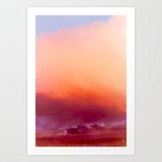 Winter-sun, in Iceland, Seltjarnarnes. Art Print