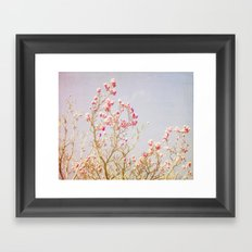 Sweet Pink Magnolias Framed Art Print