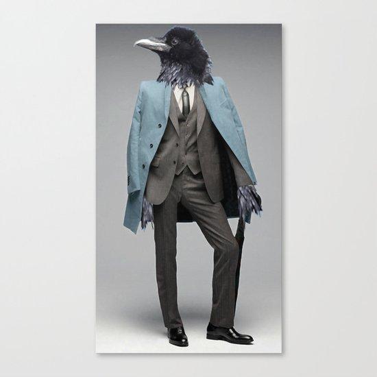 dapper crow Canvas Print