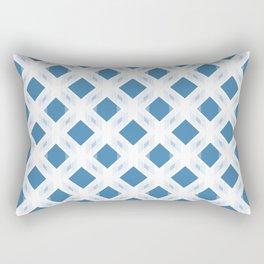 Retro-Delight - Diamond Division - Blue (Invert) Rectangular Pillow