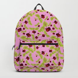 Blushing Pink Beauty and the Beets Backpack