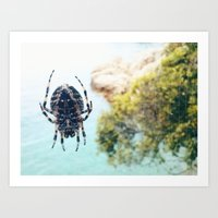spider Art Prints featuring Spider by Bor Cvetko