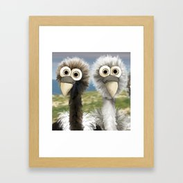 series: Old World Vultures - Gyps bengalensis and Gyps himalayensis  Framed Art Print
