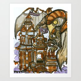 Bioshock Tea Art Print