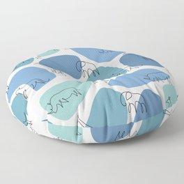 Big 5 Safari Minimalistic Line Art Floor Pillow
