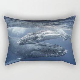 Whales Ocean Rectangular Pillow