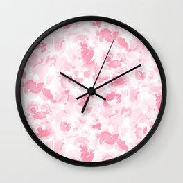 Abstract Flora Millennial Pink Wall Clock