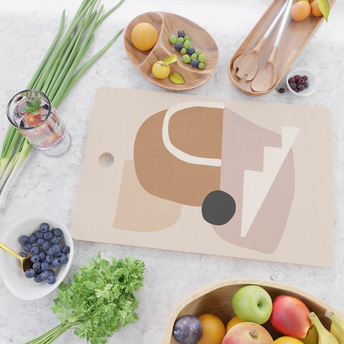 abstract minimal 24 Cutting Board