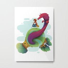 Little red riding hood for children Metal Print