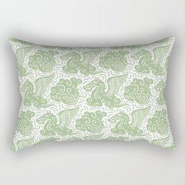 Pegasus Pattern Nile Green Rectangular Pillow