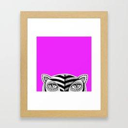 Tiger P Framed Art Print