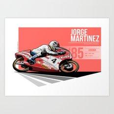 Jorge Martinez - 1985 Jarama Art Print