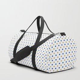 Elegant navy blue faux gold geometrical polka dots Duffle Bag