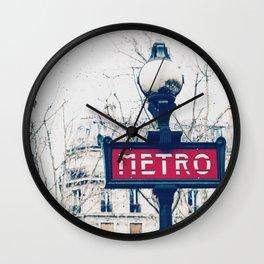 Paris Metro Sign Wall Clock