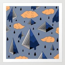 Blue Py Art Print