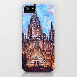 Barcelona, Cathedral of the Holy Cross and Saint Eulalia iPhone Case