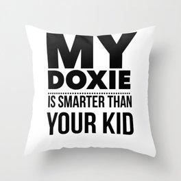Dacshund Dog Design Funny Tee for Mom Dad Men or Women Throw Pillow