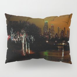 Christmas Lights, City Lights (Chicago Architecture Collection) Pillow Sham