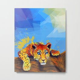 Tree Leopard Metal Print