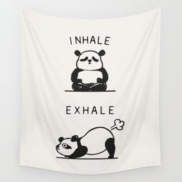 Inhale Exhale Panda Wall Tapestry