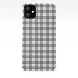 Plaid (gray/white) iPhone Case