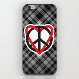 Peace Plaid iPhone Skin