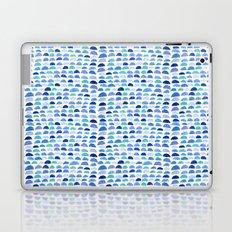Blue scalloped pattern Laptop & iPad Skin
