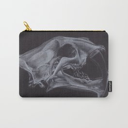 White pencil sabre-toothed tiger smilodon skull drawing Carry-All Pouch