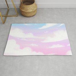 Kawaii pastel sky clouds aesthetic Rug