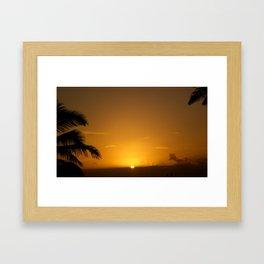 Hawaii Sunset Series D Framed Art Print