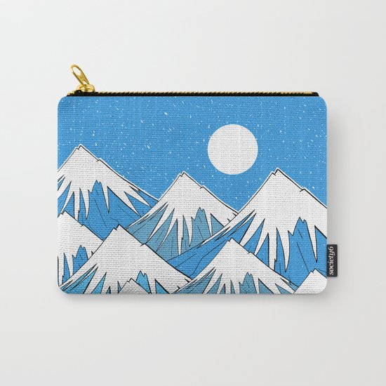 Winter Blues Carry-All Pouch