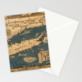 Map of Long Island Stationery Cards