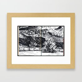 View of the Missouri River from Bismarck State College Framed Art Print