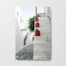 One Step at a Time | Paros, Greece Metal Print