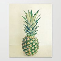 pineapple Canvas Prints featuring Pineapple by Cassia Beck