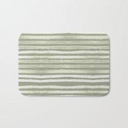 Simply Shibori Stripes Green Tea and Lunar Gray Bath Mat