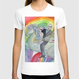 Bernie Sanders Riding an Alacorn Wielding the Sword of Truth T-shirt