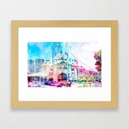 Life at Flinders Street Station Framed Art Print