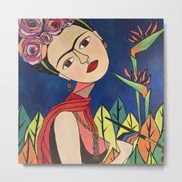 Frida Khalo Painting Metal Print