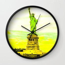 Statue of Liberty Yellow Wall Clock