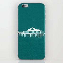 Seaside Pier in Turquoise iPhone Skin