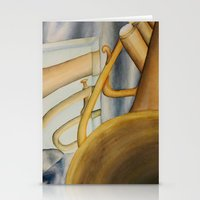 trumpet Stationery Cards featuring Trumpet by Erin Schamberger