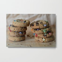 A Balanced Diet Is a Cookie In Each Hand Metal Print