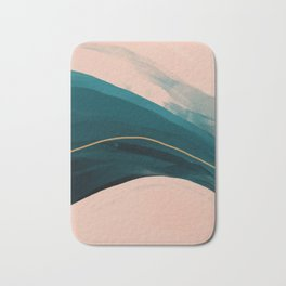 California Watercolor Winter Bath Mat