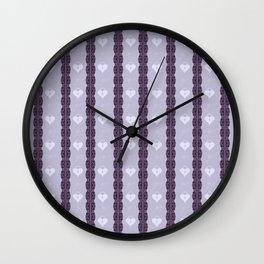 Purple Locket Wall Clock