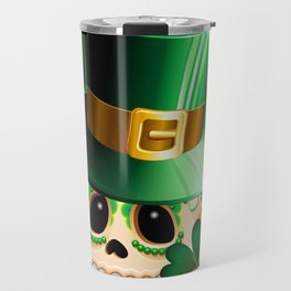 St Patrick Skull Cartoon  Travel Mug