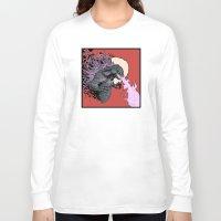2001 Long Sleeve T-shirts featuring Godzilla 2001 by Leonardo LAGONZA Gonzalez