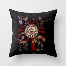 Sensei Pepper's Martial Arts Club Band Throw Pillow