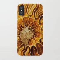 minerals iPhone & iPod Cases featuring AMAZING AMMONITE by Catspaws